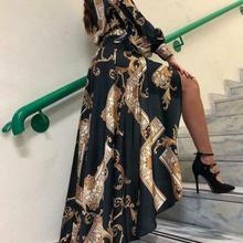 Vestidos bohemios Vintage de manga larga para mujer, vestido Formal de bola grande para fiesta de graduación Dama de Honor de boda de noche
