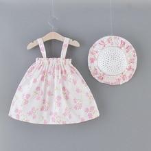 Girls' Summer Sleeveless Shoulder Strap Print Dress Toddler Baby Girls Summer Sleeveless Print Clothes Princess Dress цена 2017