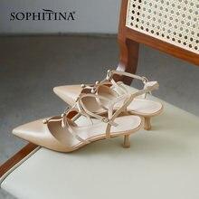 Sophitina/летние мужские сандалии; Дышащие босоножки с ремешком