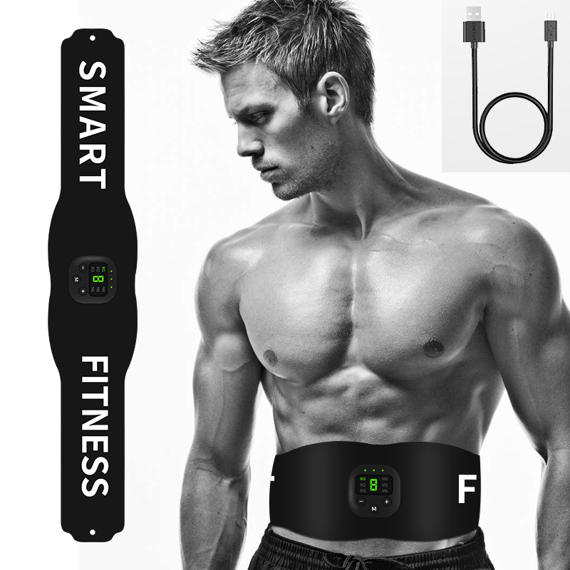 Abdominal Toning Belt Abdomen Vibration Body Slimming Belt EMS Trainer Electric Muscle Stimulator Fitness Massager Waist Support