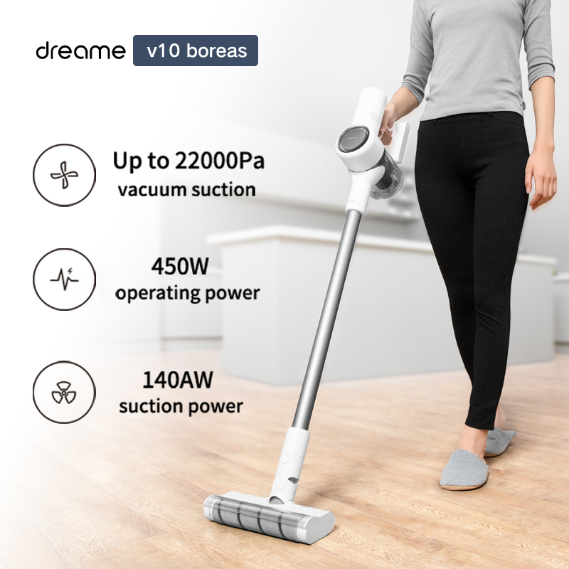 Original Xiaomi Dreame V10 Boreas Handheld Wireless Vacuum Cleaner 22000Pa Suction Portable Cordless Dust Collector Anti-winding