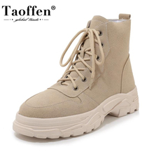 Casual Shoes Short Ankle-Boots Snow-Footwear Sole Taoffen Warm Thick Women Winter New-Fashion