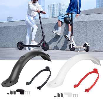 White/Black Rear Mudguard Fender Guard + Bracket + Hook Fit for Xiaomi 1S/M365 Electric Scooter Accessories 1 set scooter rear back fender mudguard screws rubber cap electric screw plug cover for xiaomi mijia m365 electric scooter parts