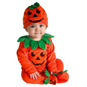 Unisex Kid Halloween Costumes Toddler Baby Kids Pumpkin Halloween Jumpsuit Playsuit Outfits Romper Cosplay Costume for Kids Gife
