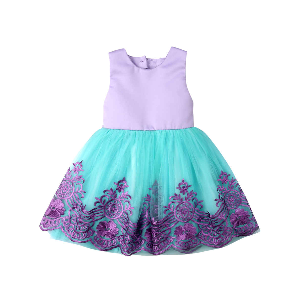 Lovely Summer Kids Baby Dress Girls Pageant Party Bow Princess Formal Gown Tutu Bridesmaid backless Dress
