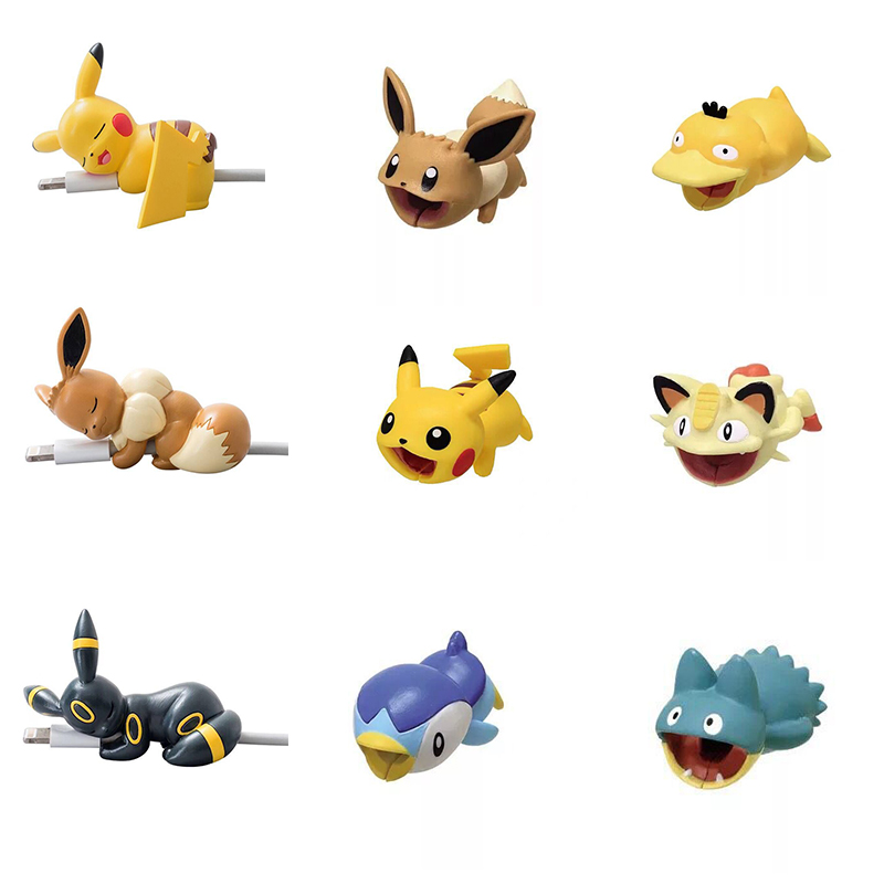 9 Styles Pokemon Go Cosplay Prop Accessories Pikachu Eevee USB Protective Case