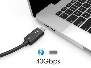 Image 4 - Thunderbolt 3 كابل 100 واط 40Gbps الأسود ل eGpu ديل XPS MBP 50 سنتيمتر/60 سنتيمتر/70 سنتيمتر/100 سنتيمتر