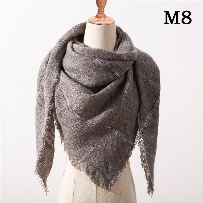 Женский зимний шарф в ретро стиле, кашемировые вязаные пашмины шали, женские мягкие треугольные шарфы, бандана, теплое одеяло, новинка