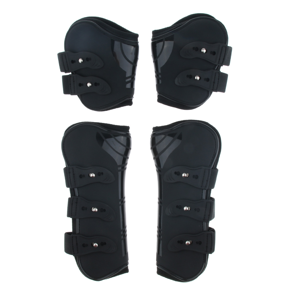 4pcs/Set Horse Pony Exercise Jumping Boots Equestrian Open Front Jump Tendon Fetlock Boots Durable  Lightweight
