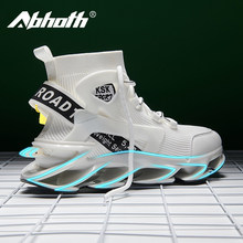 Abhoth hommes chaussures respirant volant tissé respirant automne hommes chaussures de sport décontracté anti-dérapant Absorption des chocs hommes baskets 46