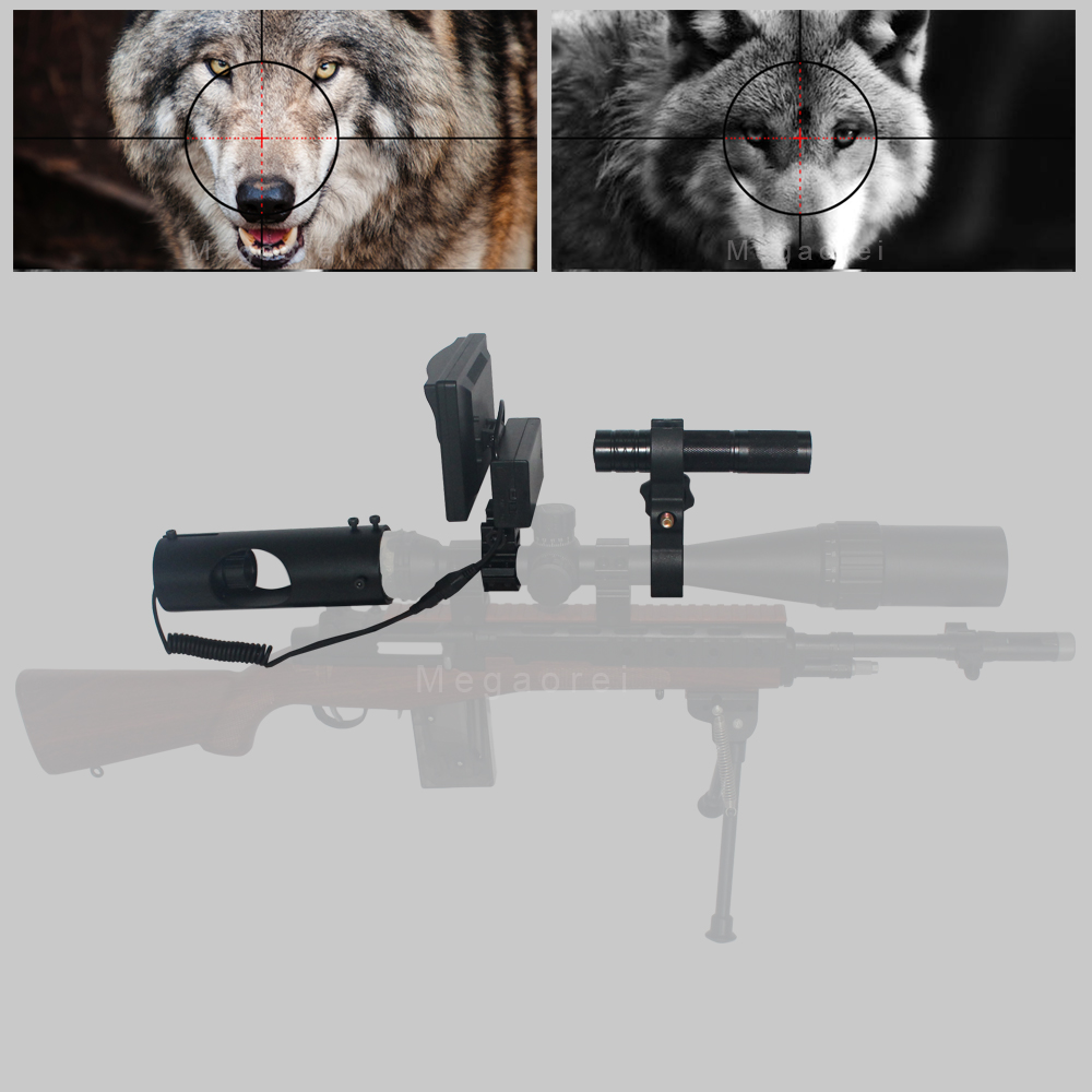 2020 Newest Hunting Optics Sight Scope Laser Infrared Night Vision Riflescope With IR Flashlight And LCD Screen