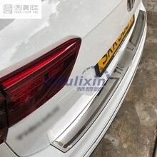Tylne ochraniacze tylny zderzak ze stali nierdzewnej bagażnika listwa progowa osłona zabezpieczająca obejmuje dla 2016 2017 2018 VW Tiguan mk2