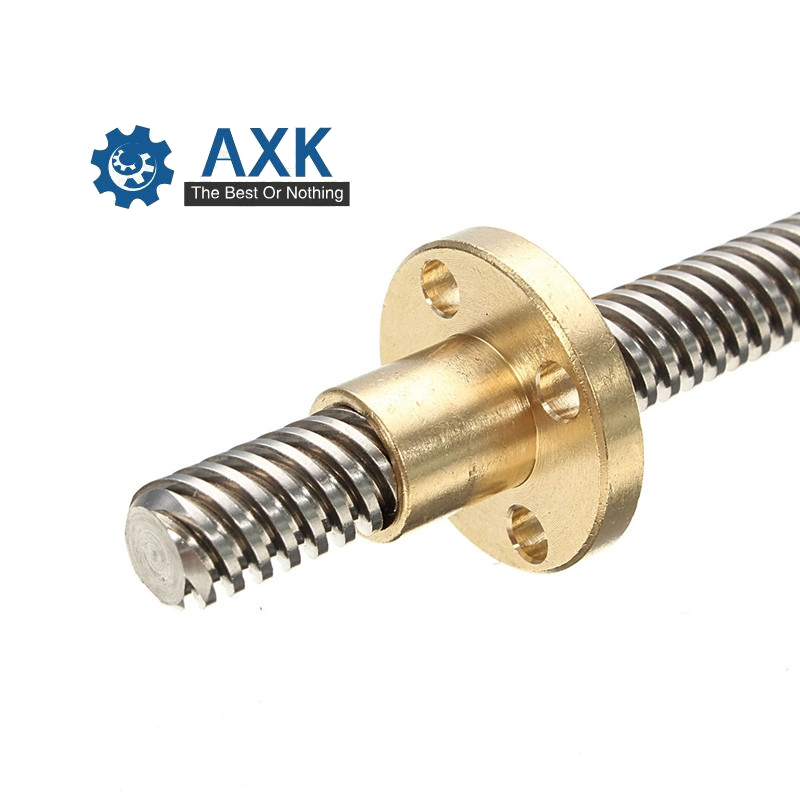 304 Stainless Steel Right T12 Length 100 200 300 400 500 600 700 800 1000mm Lead 2 4 8 10 12 14  Spindle Screw And Nut
