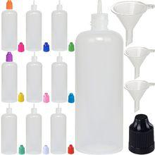 20Pcs 5Ml/10Ml/15Ml/20Ml/30Ml/50Ml/100Ml/120Ml Lege Ldpe Plastic E Vloeibare Sap Dropper Eye Flessen Lange Tip Cap Vape Container