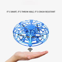 New Mini Drone UFO Hand Operated RC Helicopter Quadrocopter Dron Infrared Induction Aircraft Flying Ball Toys For Kids Gifts