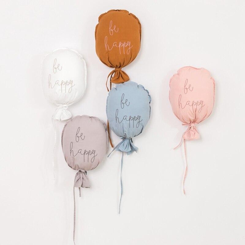 Décoration murale suspendue en coton, ballon mignon, pour chambre d'enfants, Style nordique, décoration de chambre de bébé, décor de maison |