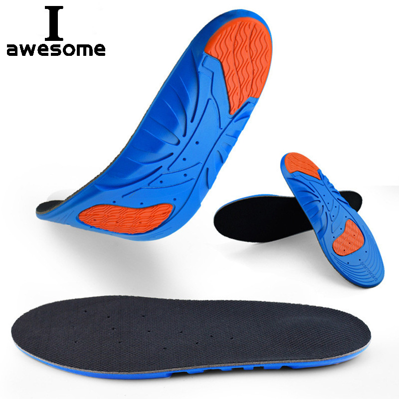 Running Sport Insoles Silicone Gel insoles silicone shoes pads for Plantar Fasciitis Heel Shock Absorption Pads soles insert image