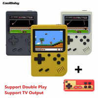 Original Coolbaby Retro Portable Handheld Game Console 8-Bit 3.0 Inch HD Color Game Player Built-in 500 Games Double Play