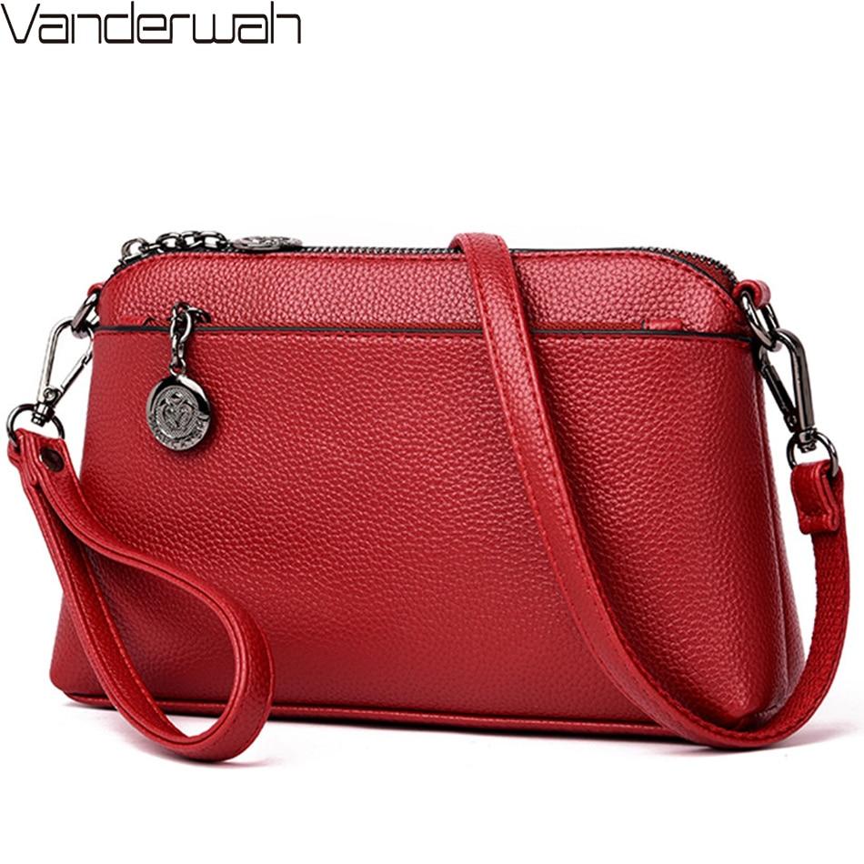 2019 Summer Style Women Clutch Bag Leather Luxury Handbags Women Bags Designer Shoulder Crossbody Bag Female Bolsas Sac A Main