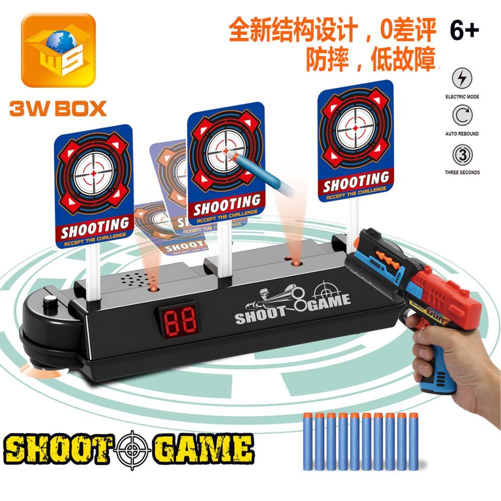 Electric automatic reset shooting  soft bullet water bomb gun electronic  boy birthday Christmas