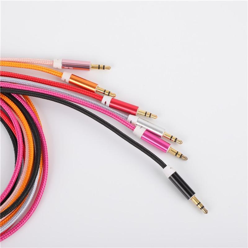 3.5 Mm Jack przewód AUX 3.5mm samochodów wiosna kabel Audio pozłacany Jack męski na męski kable głośnikowe dla zestaw słuchawkowy z głośnikiem