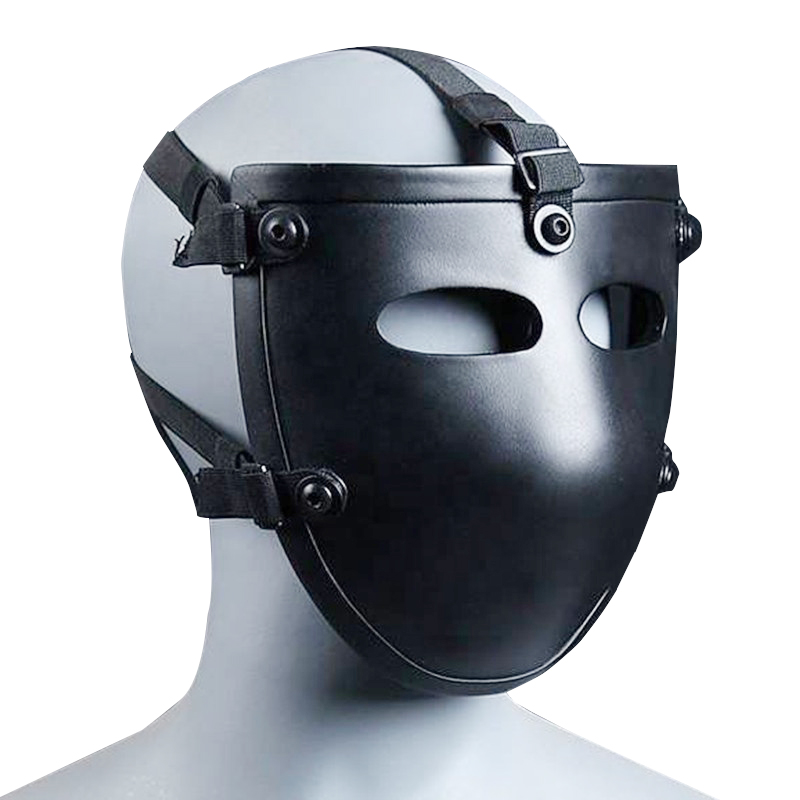 NIJ IIIA Aramid Bulletproof Mask Black Half Face Ballistic Mask NIJ Rated Ballsitic Visor