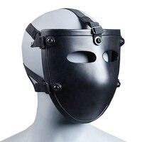 NIJ IIIA Aramid Kugelsichere Maske Schwarz Halbe Gesicht Ballistischen Maske NIJ Bewertet Ballsitic Visier-in Masken aus Sicherheit und Schutz bei