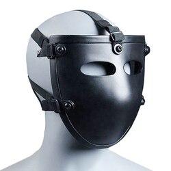 NIJ IIIA Aramid Kugelsichere Maske Schwarz Halbe Gesicht Ballistischen Maske NIJ Bewertet Ballsitic Visier