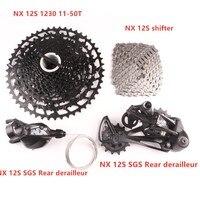 SRAM NX SX 12S Fahrrad Groupset MTB Bike Kit Shifter Hebel SGS Schaltwerk SX Kette Sunrace CSMZ90 1230 11 50T Kassette-in Fahrrad-Umwerfer aus Sport und Unterhaltung bei