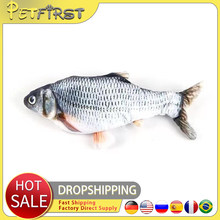 PetfirsSoft Plush Creative 3D Carp Fish Shape Cat Toy Gifts Catnip Fish Stuffed Pillow Doll Simulation Fish For Pet Playing Toy
