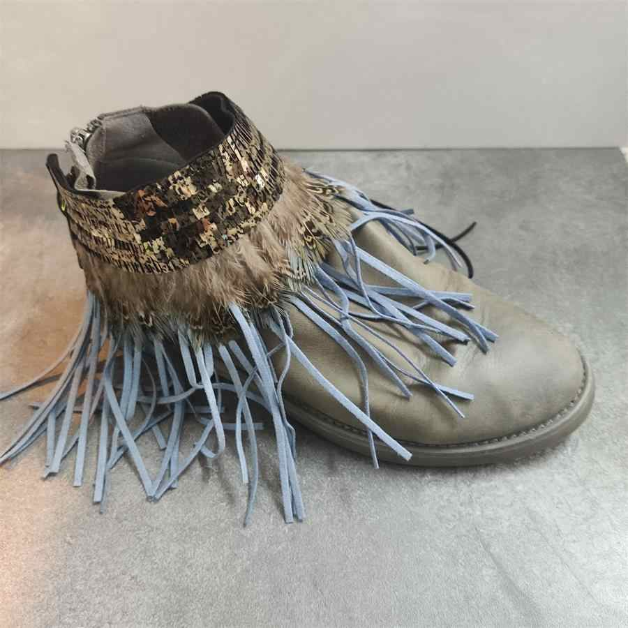 Kadın leopar baskı ayakkabı kemer yaratıcı tasarım uygun ayak bileği ayakkabı bağı bayan askısı dantel bant tutmak için gevşek yüksek topuklu