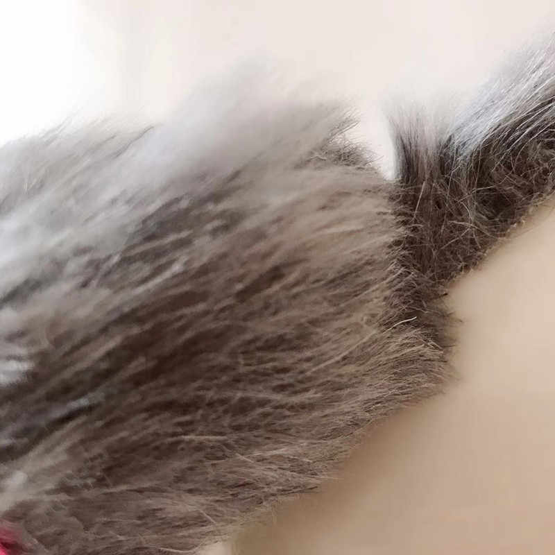 5Pcs False Mouse Kucing Hewan Peliharaan Mainan Kucing Berambut Panjang Ekor Tikus dengan Suara Berderak Lembut Nyata Bulu Kelinci suara Nyaring Mainan untuk Kucing Anjing