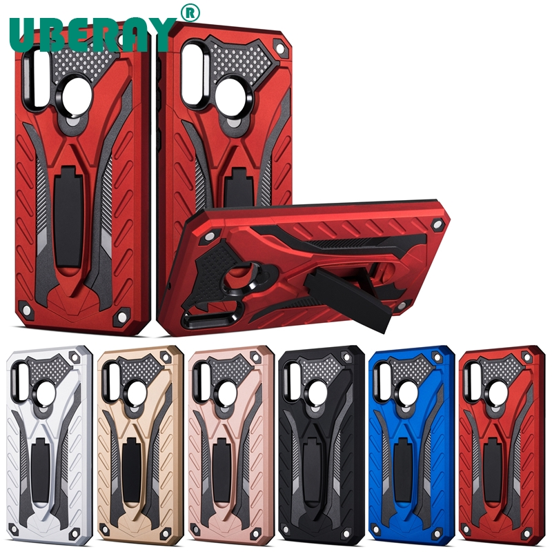 UBERAY Shockproof Armor Phone Case For <font><b>Samsung</b></font> Galaxy A20 A30 A50 Hybrid Rubber Silicone Hard PC Back Cover For <font><b>Samsung</b></font> <font><b>A10</b></font> A70 image