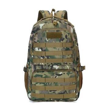 Alta calidad 35L militar táctica escalada camuflaje mochila Camping senderismo Trekking mochila viaje al aire libre camuflaje bolsas de deporte