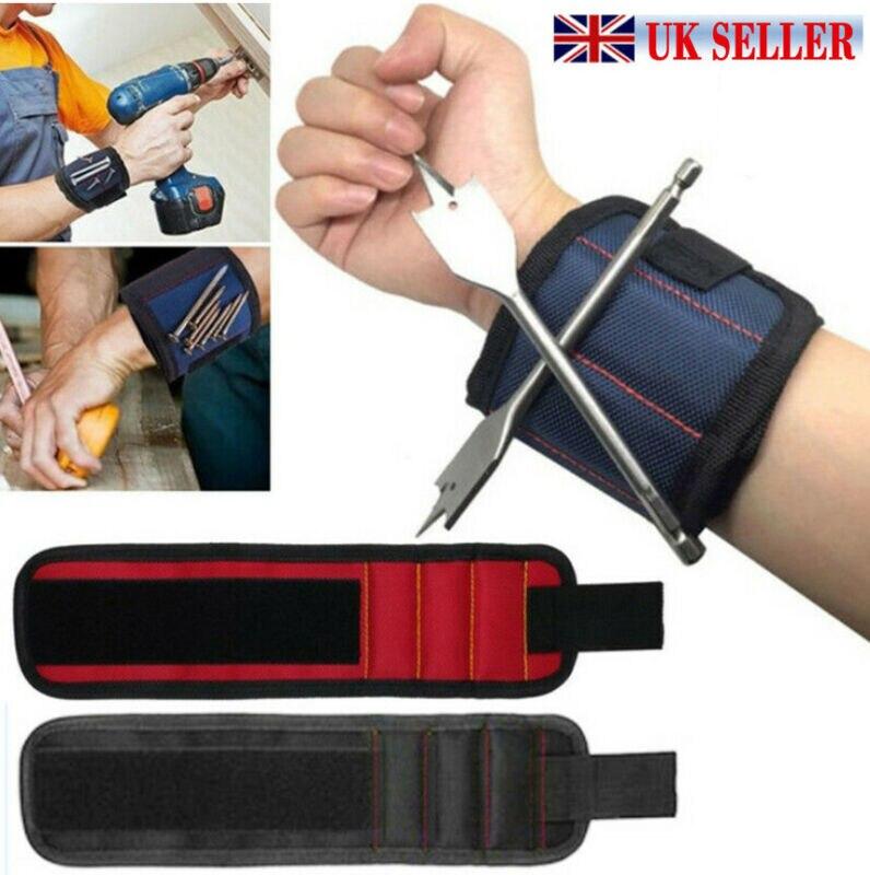UK Magnetic Wrist Band Wristband Tool Tray Belt Wrist Magnetic Holding Helper