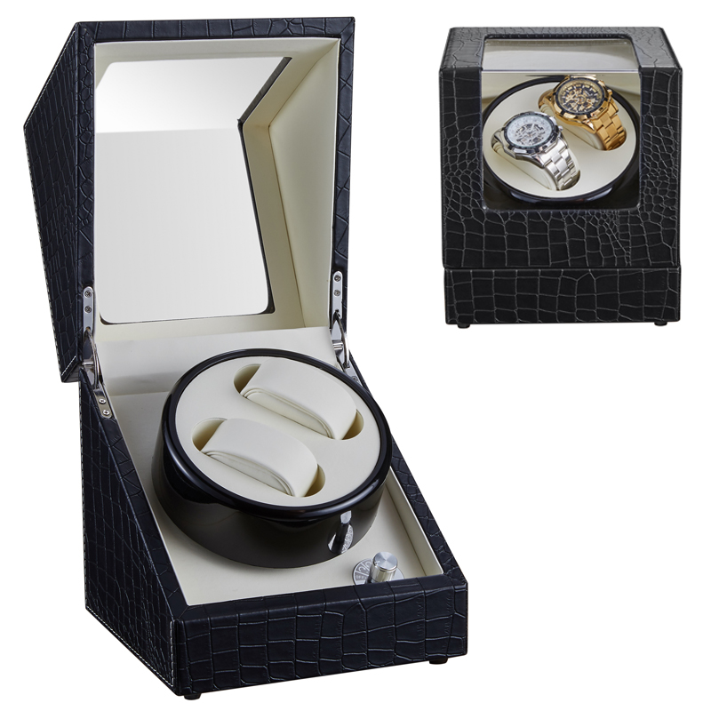 Watch Winder Winding Display Organizer Jewelry Storage Box Case Holder Motor Shaker Pu Leather Automatic Silent Mechanical