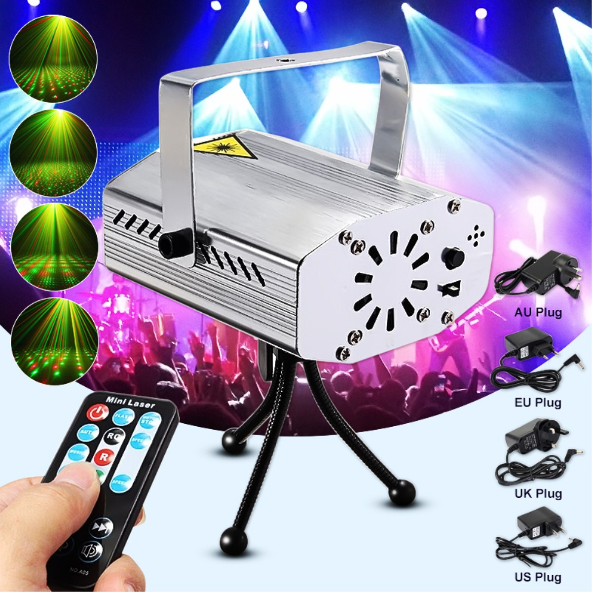 Mini Laser Projector Stage Lights Wireless LED Lighting Stage Lights Party Lighting Projector With Remote Control For DJ Disco