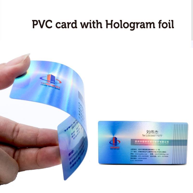 Big Discount Holographische Pvc Silber Kunststoff Karte 0