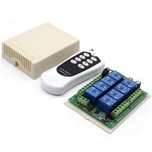 12V DC 8 ช่องสัญญาณรีเลย์ RF รีโมทคอนโทรลเครื่องส่งสัญญาณ 433.92 MHz