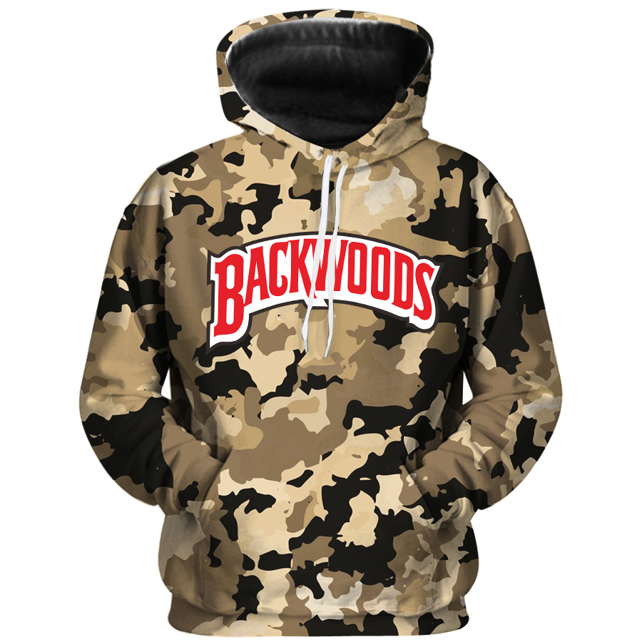 Fashion Camouflage Hoodie 3Dprint BACKWOODS Hoodies Sweatshirts Men Women Hip Hop Streetwear Hoodie Pullover