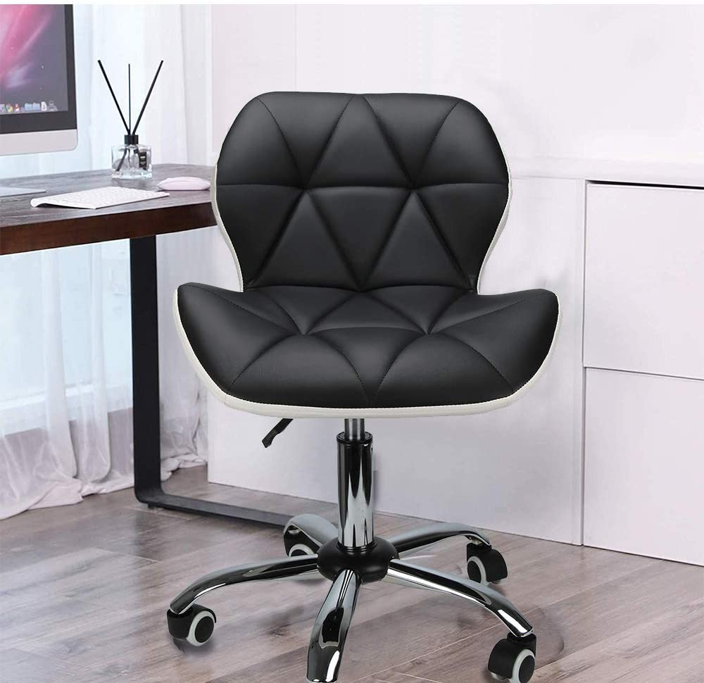 Adjustable Height Family Study Living Room 360 Degree Leather With Pulley Dedicated Office Computer Swivel Chair Labor-saving