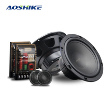 AOSHIKE 2PC 6.5 Inch Full Frequency Combination Coaxial Speakers Kit with Tweete