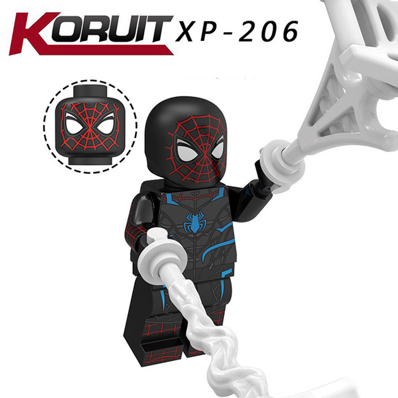 Single Sale Legoinglys Far From Home Minifigure Super Hero Mysterio Spider Man Cacodemon Blocks Action Diy Toys Gifts Kt1028