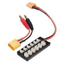 Più recente JST PH2.0 Plug 1S scheda di ricarica parallela XT60 Input per caricabatterie per RC Racing Drone FPV modello di ricambio