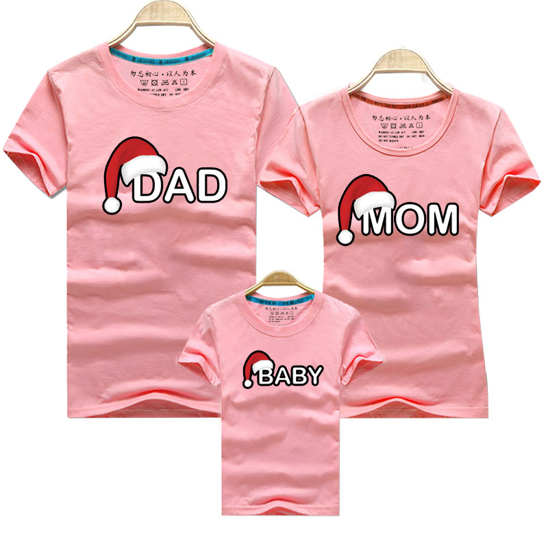 H77110d3d26da4f8a866f4bb42f63ebcdW - Dad Mom Baby Christmas T-Shirt Clothing for Family Matching Outfits Clothes Mother Daughter Father Son Look Mommy and Me Shirt