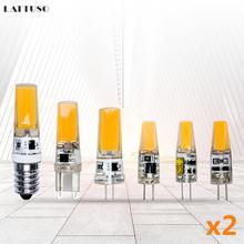 Светодиодная мини лампа g4 g9 e14 сменные галогенные лампы для