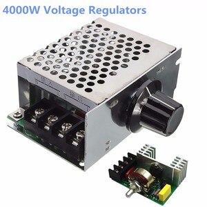 Мощный регулятор напряжения WOLIKE 4000 Вт 220 В SCR, диммер, контроллер скорости электродвигателя, электрические инструменты, потенциометры