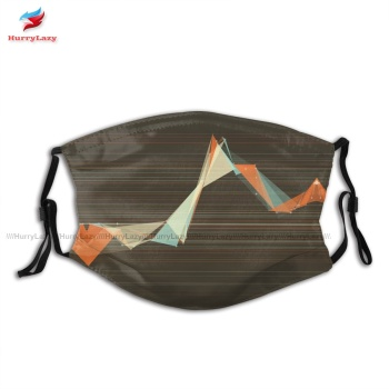 Swag Protector LeMans Polygon Triangle Graph Face Mask Fantasy Unisex Polyester Facial Mouth Mask With Filter image