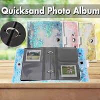 3inch Quicksand Sequin Photo Book Album for Instant Polaroid Fujifilm 100 Photos Mini Film Set Photo Album Nice Gift Case