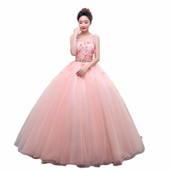 Vestidos Quinceanera Bola Vestidos Vestidos de 15 Anos Vestidos Quinceanera New Apliques vestido de Baile para a Festa Com Decote Em V Vestido 0022
